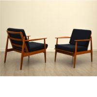 Paire de fauteuils scandinave années 50