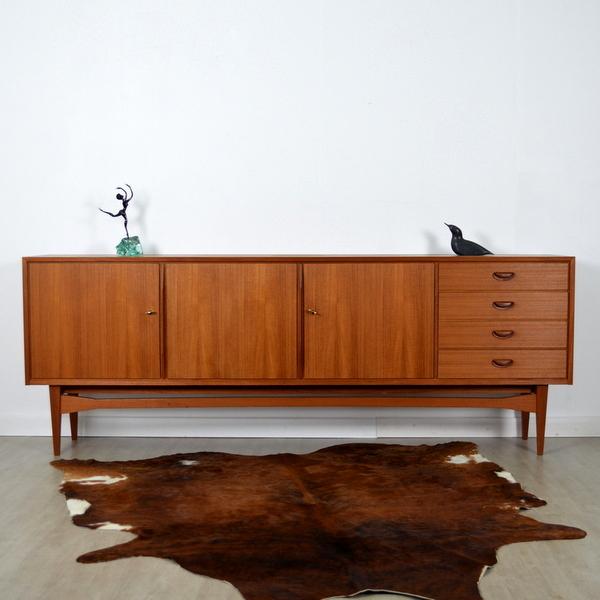enfilade scandinave ann es 60 teck. Black Bedroom Furniture Sets. Home Design Ideas