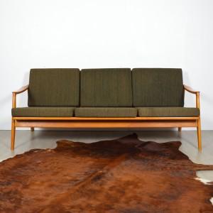 canap scandinave ann es 60 vintage. Black Bedroom Furniture Sets. Home Design Ideas
