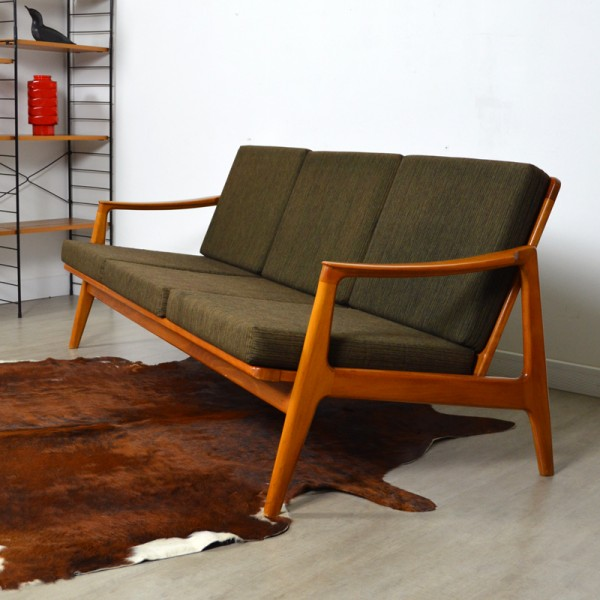 Canap scandinave ann es 60 vintage - Canape style annee 50 ...