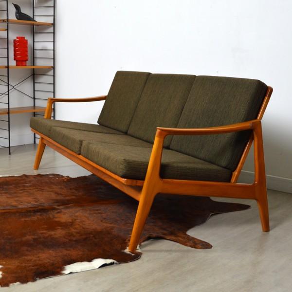 Canapé scandinave années 60 vintage