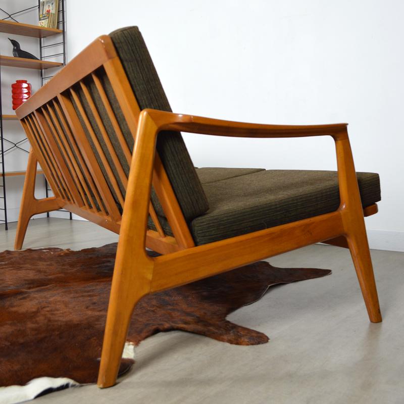 Canap scandinave ann es 60 vintage for Canape hauteur assise 60