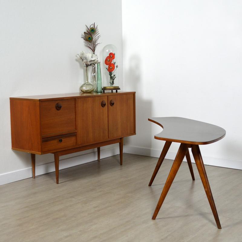 Table haricot pieds compas vintage - Pieds de table vintage ...