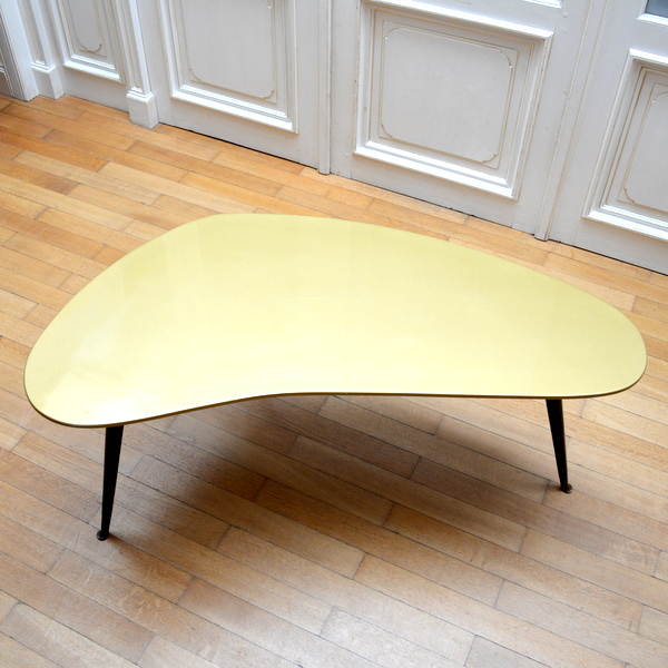 Table basse boomerang tripode vintage - Table basse tripode vintage ...