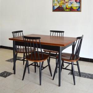 Chaises et table teck 12