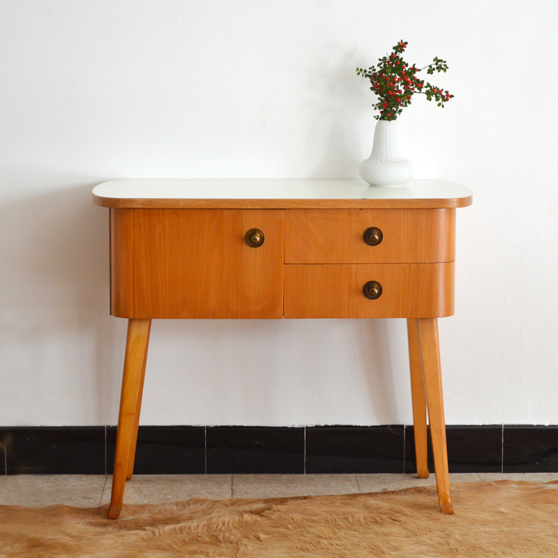 Petite commode chevet vintage - Table de chevet retro ...