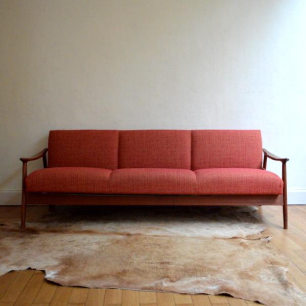 canap daybed scandinave ann es 60. Black Bedroom Furniture Sets. Home Design Ideas