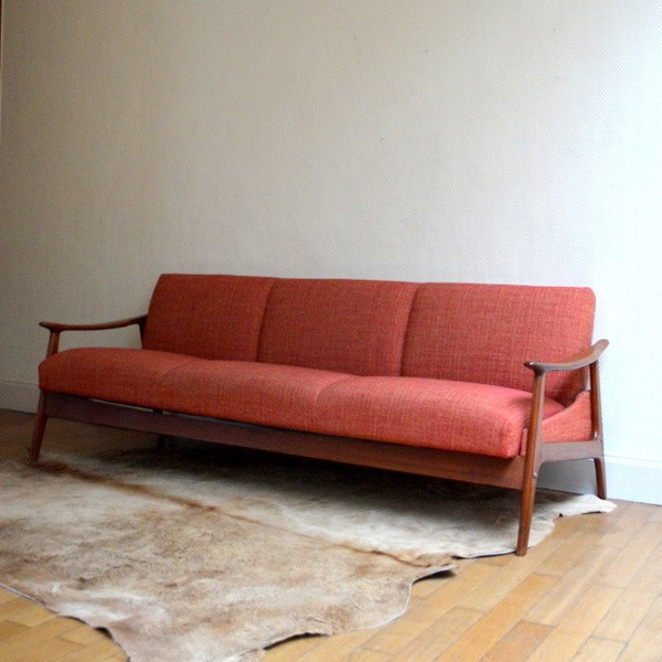 Canap daybed scandinave ann es 60 for Canape annee 60