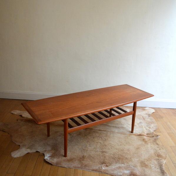 Grande table basse scandinave grete jalk for Grande table scandinave