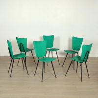 Six chaises design Jacques Hitier vintage