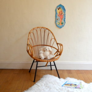 chaise rotin vintage 2
