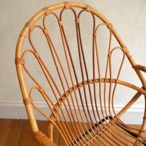 chaise rotin vintage 7