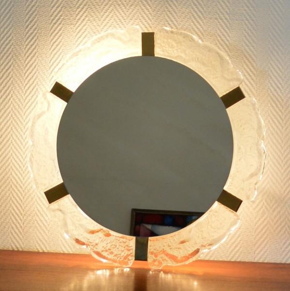 Miroir – Applique lumineuse  années 60