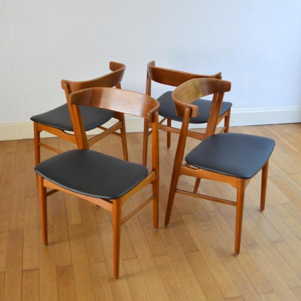 Quatre chaises scandinave ann es 60 - Boutique scandinave en ligne ...