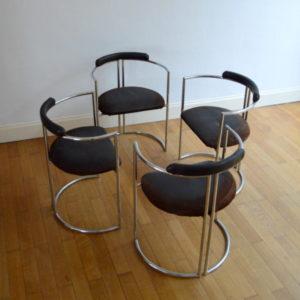 chaises design années 70 space age 1