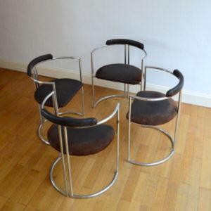 chaises design années 70 space age 2