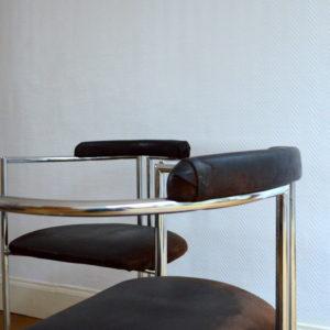 chaises design années 70 space age 3