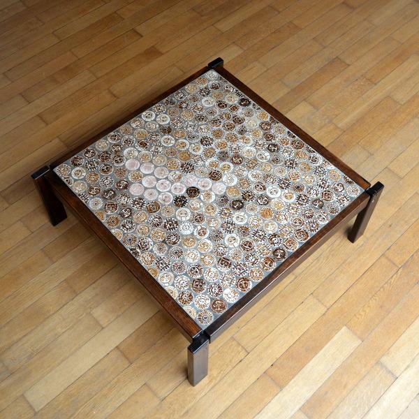 table basse roger capron ann es 70. Black Bedroom Furniture Sets. Home Design Ideas