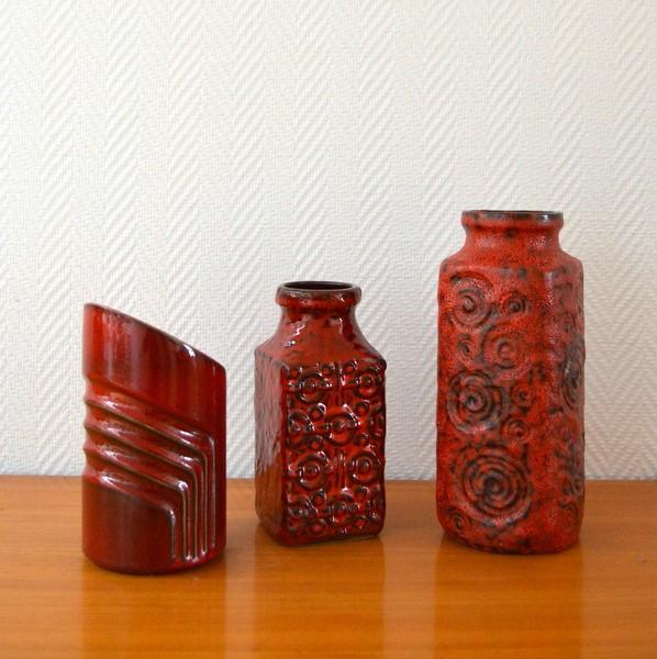 Vases poteries Céramiques années 60 vintage