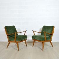 Paire de fauteuils scandinave années 50 Knoll Antimott