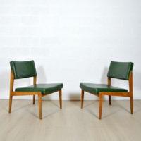 Paire de fauteuils – Chauffeuse années 50 Thonet
