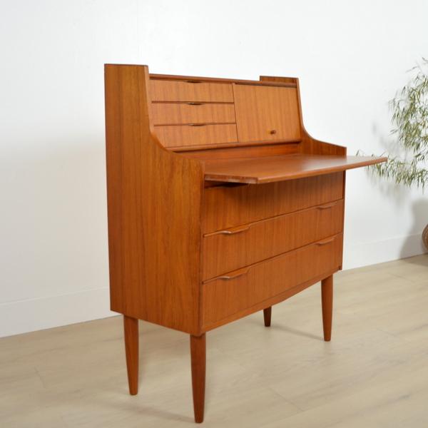 secr taire bureau danois ann es 60. Black Bedroom Furniture Sets. Home Design Ideas