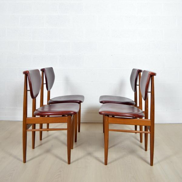 Quatre chaises Louis Van Teefelen années 60