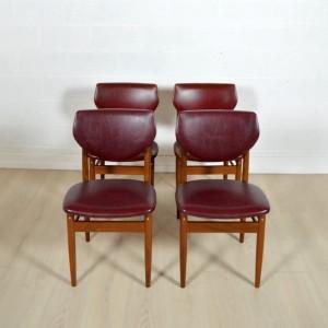 4 chaises Louis VAN TEEFFELEN 9