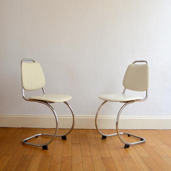 Deux chaises années 50 vintage