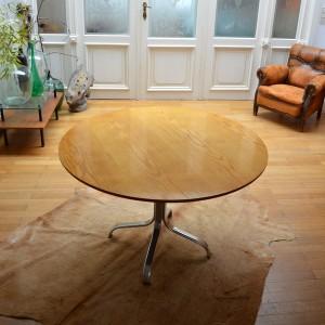 table à manger ronde années 60 vintage 4