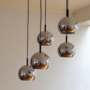 Suspension – Lampe pendante années 70 vintage 1