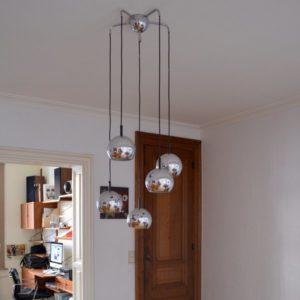 Suspension – Lampe pendante années 70 vintage 12