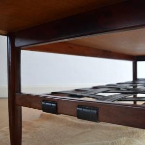 table basse bois de rose années 70 vintage 16