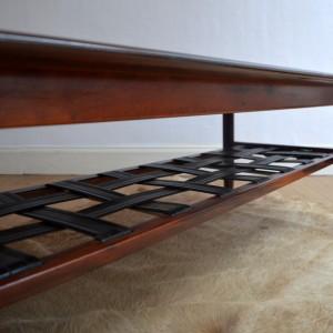 table basse bois de rose années 70 vintage 17