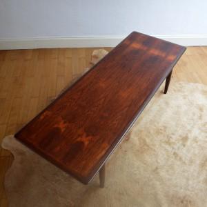 table basse bois de rose années 70 vintage 19