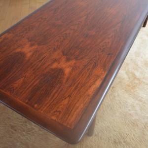 table basse bois de rose années 70 vintage 20