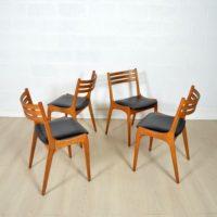 Suite de quatre chaise KS Denmark années 60
