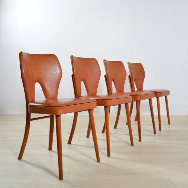 Suite de quatre chaises années 50