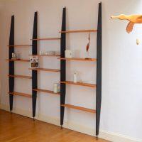 Système d'étagères modulable – Bibliothèque années 60
