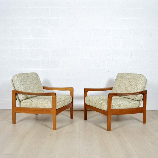 paire de fauteuils scandinave ann es 60. Black Bedroom Furniture Sets. Home Design Ideas