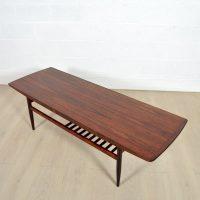Grande table basse palissandre années 60