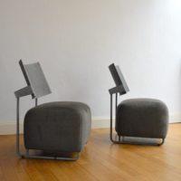 Paire de fauteuils Design années 80