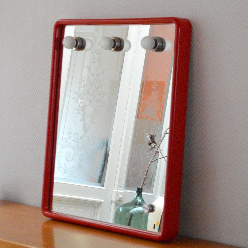 Grand miroir clairant par prodotto gedy ann es 70 80 for Miroir eclairant