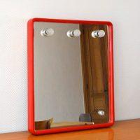 Grand miroir éclairant par Prodotto Gedy années 70 / 80