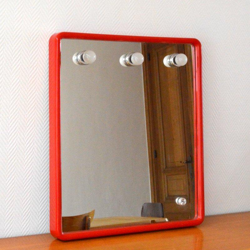 Grand miroir clairant par prodotto gedy ann es 70 80 for Miroir annee 70