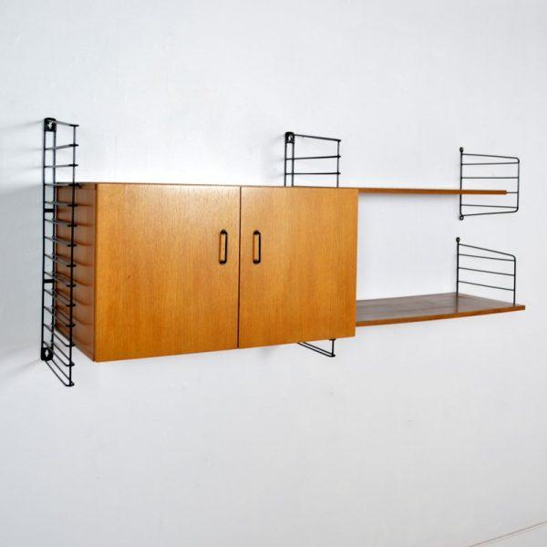 Système d'étagères – Bibliothèque Musterring International années 50 / 60