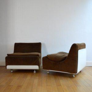 Deux fauteuils Orbis par Luigi Colani pour Cor 1969 vintage 57