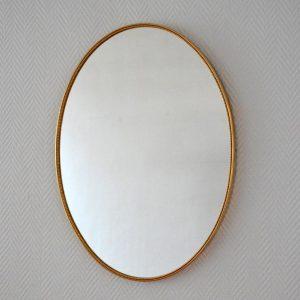 Miroir ovale années 50 vintage 3