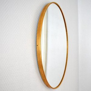 Miroir ovale années 50 vintage 4