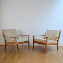 Paire de fauteuils scandinave années 60 vintage 2